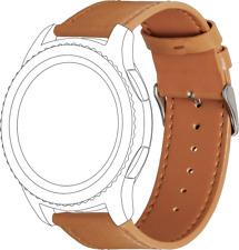 Topp - Wechselarmband für Samsung Gear S3/Galaxy Watch Leder Hellbraun BRANDNEU