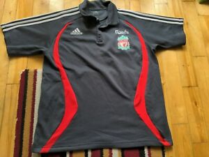 Liverpool Football Training Top Mens Large Adidas Polo
