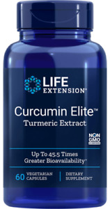 LIFE EXTENSION CURCUMIN ELITE TURMERIC EXTRACT 60 VEGETARIAN CAPSULES FOR JOINTS