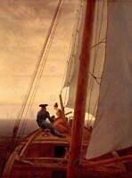 PAINTING SEASCAPE MARITIME FRIEDRICH SAILING SHIP POSTER ART PRINT BB12573A