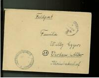 1944 Germany Trondheim KT3 Navy Norway Feldpost Cover