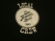 Zac Brown Band 2013 Local Crew T-shirt Size Large