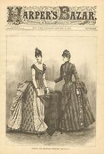 Victorian Ladies Fashion, Evening & Reception, Vintage, 1887 Antique Art Print,