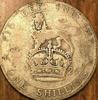 1925 UK GB GREAT BRITAIN ONE SHILLING .500 SILVER