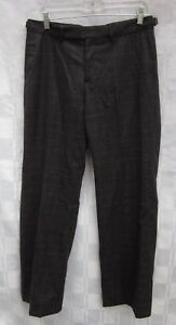 BANANA REPUBLIC MARTIN FIT PLAID LINED PANTS WOOL Women's 6 Made in ITALY 2002