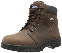 Skechers Womens Workshire Peril Leather Closed Toe Ankle, Dark Brown, Size 8.5 5