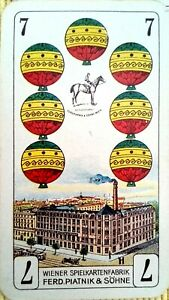 Skat Kartenspiel deutsches Blatt, Wiener Spielkartenfabrik Ferd. Piatnik & Söhne
