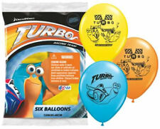 "6 pc 12"" Turbo Happy Birthday Party Decoration Latex Balloons Racing Snail"