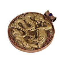 Dragon Snake Bird Pendant Pure Copper  Ethnic Tribal Handmade Nepal Boho PD1206