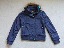Superdry Ladies Windcheater Purple Triple Zip Fleece Lined Jacket - Size L