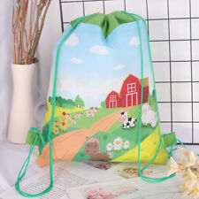 Farm Animals Drawstring Bag Travel Storage Bag Backpacks Kids Birthday Gifts ND