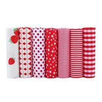 7Pcs Tissus Cotton Fabric Telas Patchwork Fat Quarter Sewing Doll Cloths Crafts