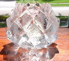 Orrefors Firefly Nimbus Crystal Artichoke Votive Candle Holder Sweden ~ Signed