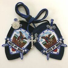 St Michael Archangel Shield Scapular Wool with medals
