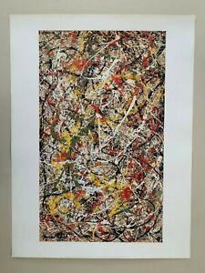 JACKSON POLLOCK,'NUMBER III' RARE AUTHENTIC 2002 ART PRINT