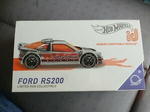 HOT WHEELS ID FORD RS200 DARE DEVIL COLLECTIBLE UNIQUELY IDENTIFIABLE VEHICLE