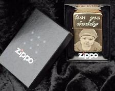 Personalised Zippo Lighters, free engraving, photo engraving. Genuine Zippo