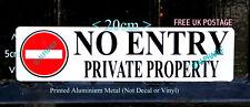 Nessuna voce proprietà privata segno giardino PORTONE Stampato ALI PICCOLE IN METALLO 20 x 5 cm