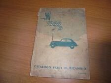 Fiat 1500 D Catalogue Parts Replacement Original 1949