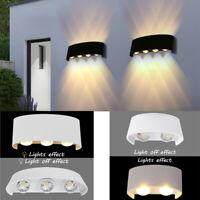 Luxury Metal Sconce LED Wall Lamp Garden Corridor Balcony Up Down Lights 4 6 8W