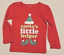 Carter's Infant Baby Boy or Girl 24 Months Santa's Little Helper Christmas Shirt