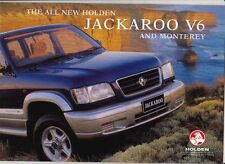 1999 HOLDEN JACKAROO V6 UBS & MONTEREY Prestige Brochure ISUZU TROOPER