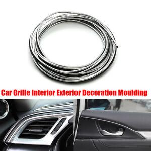 5M Silver Chrome Car Auto Interior Exterior Decoration Moulding Trim Strip Line