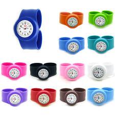 Cool Hospital Nurse Slap Watch Snap On Silicone Quartz Wrist Watch Girl Boy Cuff