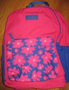 New Vera Bradley Large Colorblock Backpack Art Poppies NWT Book Bag Knapsack