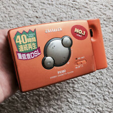 AIWA PX380 Walkman Cassette Player, Rare Orange Color !!! Working Great !!!