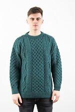 Aran Crafts Pure Irish Traditional Fisherman Wool Sweater - c1347 6 Colours