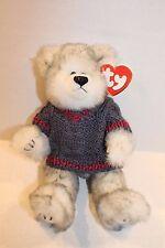 "Ty Attic Treasures Fairbanks Plush Gray Beanbag Stuffed 9"" Bear in Sweater Toy"