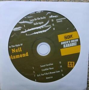 NEIL DIAMOND KARAOKE OLDIES CDGM CD+G MULTIPLEX 8+8 - SDK9018 CD MUSIC