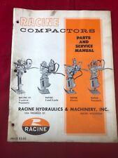 Racine Hydraulics & Machinery Compactors 101 Rapak Parts and Service Manual VTG