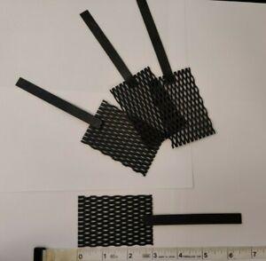 "(Ir-Ru) MMO Titanium Mesh Anode, 2"" x 3"" with stem handle"