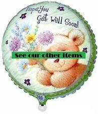 "Get Well Soon 17"" 43cm foil balloon cute teddy bear like Forever Friends"