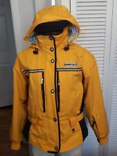 RETRO ORIGINAL OBERMEYER yellow black ski snowboard jacket COAT hood 10-12