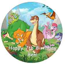 """Dinosaur Personalised Cake Topper 7.5"""" Edible Wafer Paper Land Before Time"""