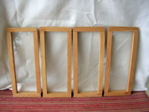 UNBRANDED SLIM NON-WORKING STORE WINDOWS Dollhouse Miniature 1/12 USED LOT OF 4