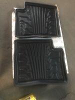 Set of 2 Lund 383093-G Catch-It Vinyl Grey Rear Seat Floor Mat