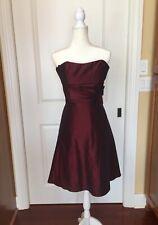 GoJane Dress Strapless Burgundy Maroon Women��s Size Medium Knee Length