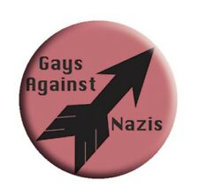 "Gays Against Nazis 1.25"" Button G001B15 LGBTQ Antifa Anti Fascist Anti Trump"