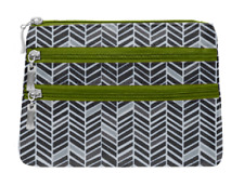 New Without Tags Baggallini 3 Zip Cosmetic Case - Chevron Print - Sample Bag