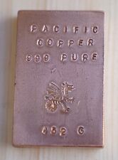 Pure Copper 999 Fine bar bullion 352 Gram