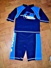 boys - blue uv surfboarder set / top & bottoms - age 3 years - new without tags