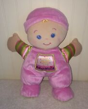"""Fisher Price Pink Baby's 1st Doll Blond Hair Rattle Stuffed Plush Toy 11"""" 2008"""