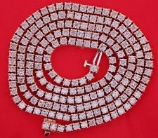 Mens 18 Carat Diamonds 26 Inch Tennis Chain Necklace 10k Rose Gold Gorgeous !!!!