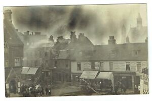 Kent postcard Bromley Market Square Fire 21st June 1909