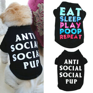 Dog Puppy Clothing Male Boy Shirt T-Shirt Pet Clothes for Chihuahua Toy Poodle