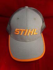 STIHL Chainsaws *GREY & NEON ORANGE MESH BACK* LOGO CAP HAT *BRAND NEW* ST20